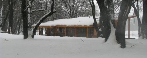 fallriver cabin snow