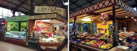 Market stalls in Narbonne.