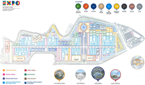 A map of Expo 2015