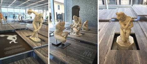 sculpture and travertine
