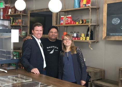 BCV's Colin Alley and Alla Agafonov with general manager Bobby Pooni.