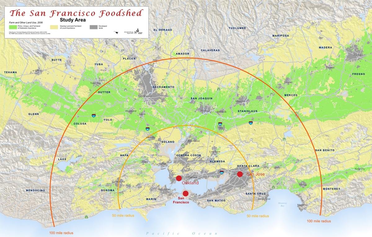san francisco foodshed map